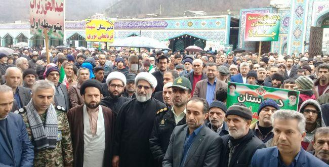 حماسه ای دیگر از مردم انقلابی زیراب در چهلمین سال انقلاب اسلامی ایران