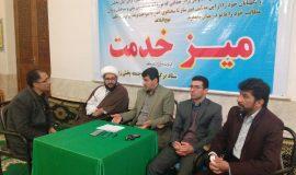 میز خدمت با حضور ریاست کمیته امداد امام خمینی(ره) شهرستان سوادکوه در مصلی نماز جمعه بخش زیراب