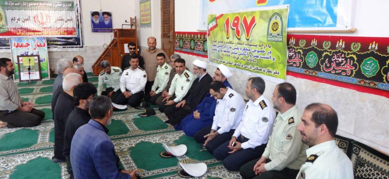 میز خدمت با حضور فرماندهی نیروی انتظامی سوادکوه در مصلی نماز جمعه زیراب سوادکوه
